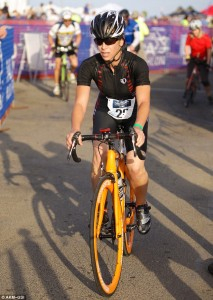 Jillian Michaels at the 2013 Nautica Malibu Triathlon (London Daily Mail)